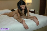 asian chick pulls down