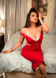 beautiful shemale red dress