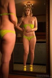 love ladyboy yellow lingerie