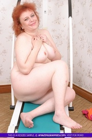 redhead granny with fat