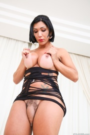 voluptuous transsexual black strips