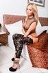 blonde mesh top teases