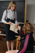 blonde milf headmistress joins