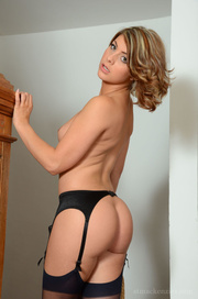 black stockings and panties