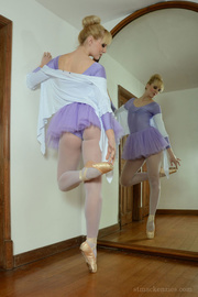 ballet get-up blonde with