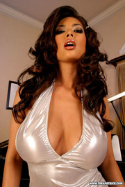 hot babe white dress