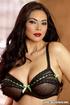 beautiful woman black lace