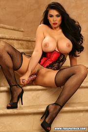 hot brunette lace teases
