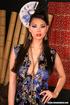 sultry brunette silk dress