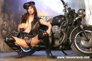 hot biker slut teases