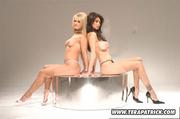 two women make out