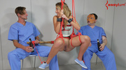 blonde tied rope gets