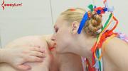 blonde slut ridiculous costume