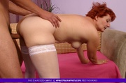 redhead granny shows her