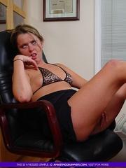 lusty granny sits black