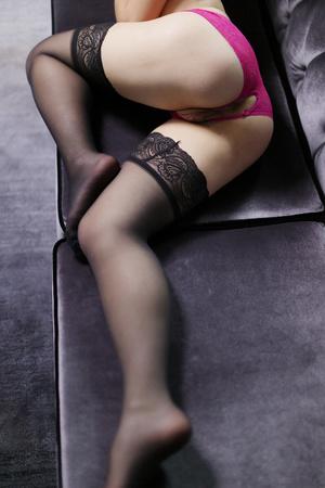 Seductress in black sexy stockings enjoy - XXX Dessert - Picture 2