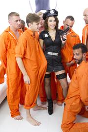 sexy policewoman throws orgy