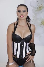 slutty brunette sexy lingerie