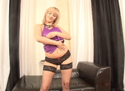 blonde lace panties gets