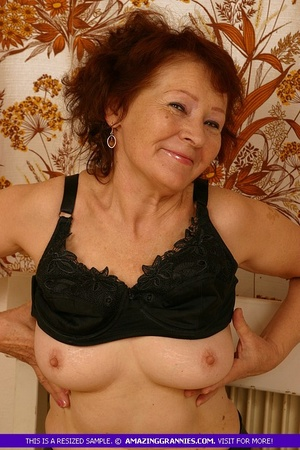 Luscious granny slowly peels off her pin - XXX Dessert - Picture 8
