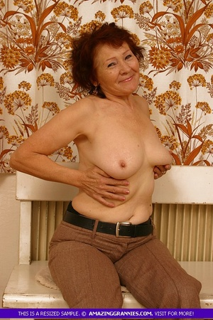 Luscious granny slowly peels off her pin - XXX Dessert - Picture 10