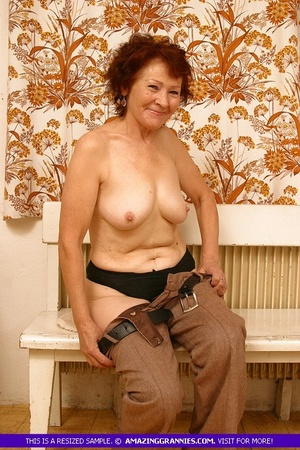 Luscious granny slowly peels off her pin - XXX Dessert - Picture 11