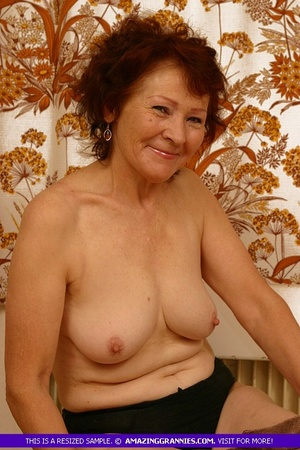 Luscious granny slowly peels off her pin - XXX Dessert - Picture 12