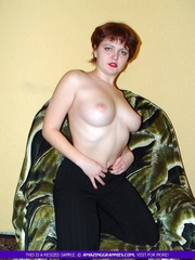 alluring milf shows her