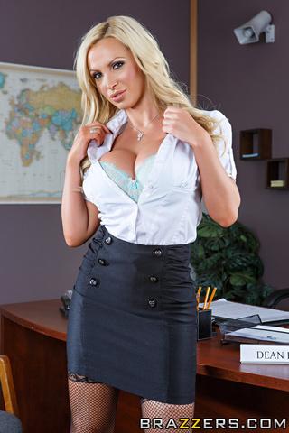 busty blonde principal black