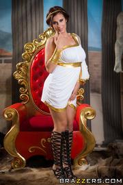 enchanting brunette wearing roman