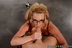 First-class blonde wearing tight gold co - XXX Dessert - Picture 9