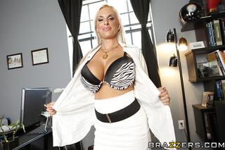 blonde pierced executive huge