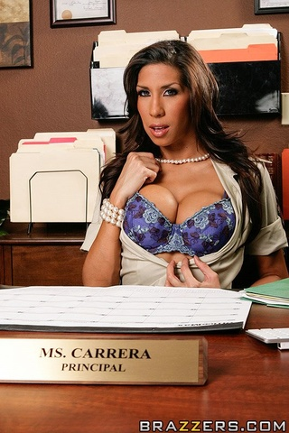 hot brunette principal fuck