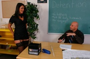 hot brunette student does