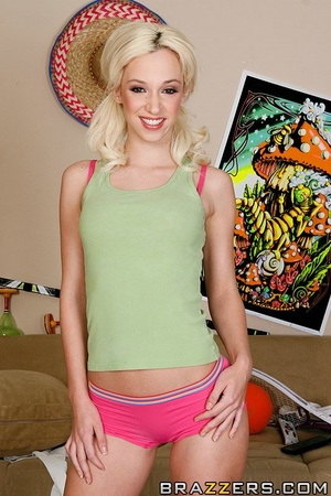 Skinny blonde with pigtails gets to fuck - XXX Dessert - Picture 1