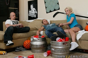 Skinny blonde with pigtails gets to fuck - XXX Dessert - Picture 6