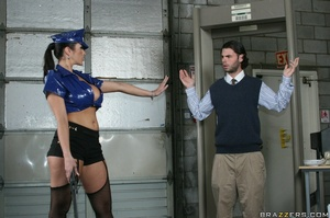 Latex-clad airport security fucked by a  - XXX Dessert - Picture 9