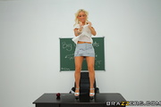 oiled-up blonde teacher with