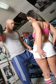 busty boxing champ brunette