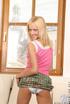 hunky blonde wearing pink