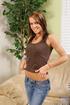 superb brunette wearing brown