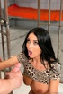 Exotic dame in black heels has shocking sex inside a prison cell.