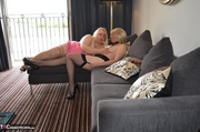 stunning blonde milf has