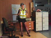 long legged police woman