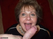 big titted granny teases