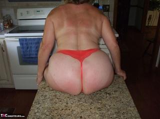 horny granny teasing saggy