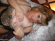 voluptuous blonde takes off