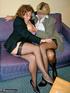 wrinkled blonde black stockings
