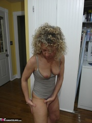 curly blonde milf white