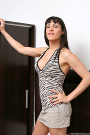 black haired t-girl with